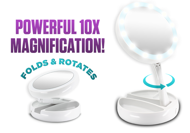 Powerful 10x Magnification | Folds & Rotates for easy use and storage